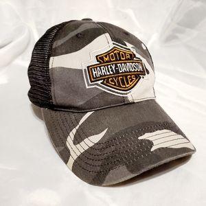 Harley Davidson Vintage Camo Mesh Trucker Hat